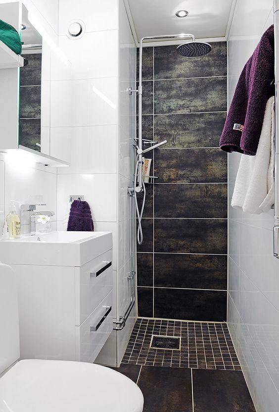 Petite salle de bain design  http://www.homelisty.com/petite-salle-de-bain/