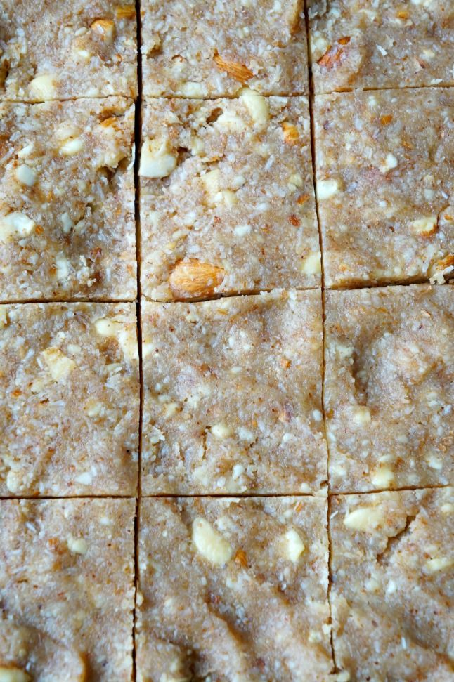 Honey Coconut Almond Bars | tomatoboots.co | #vegetarian #chewy