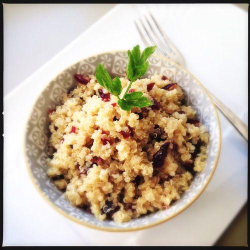 quinoa con curry e cranberries