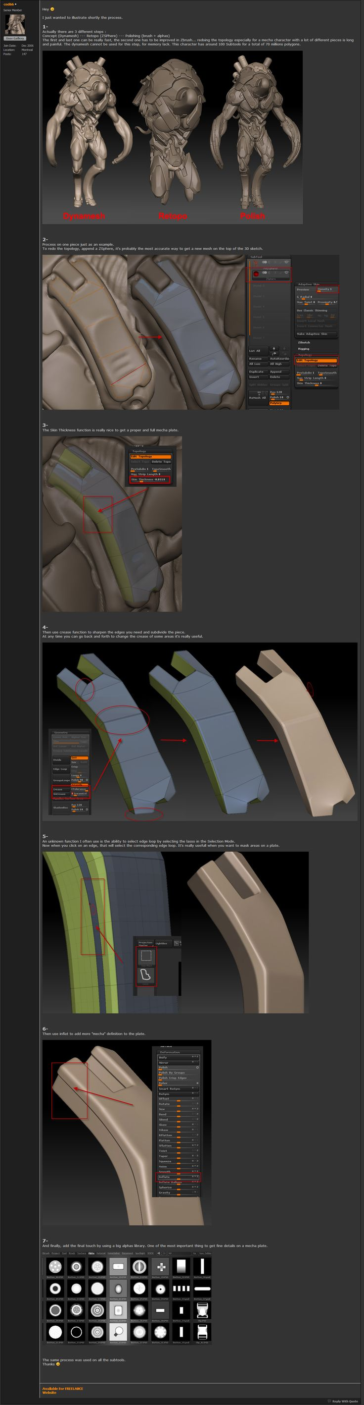 Cedric Seaut's Hard Surface Process. #3d #sculpting #tutorials