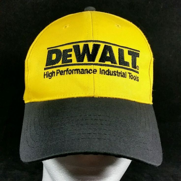 Mens Dewalt Baseball Hat: Yellow Black Tough High Performance Power Tool Cap NEW #DeWalt #BaseballCap