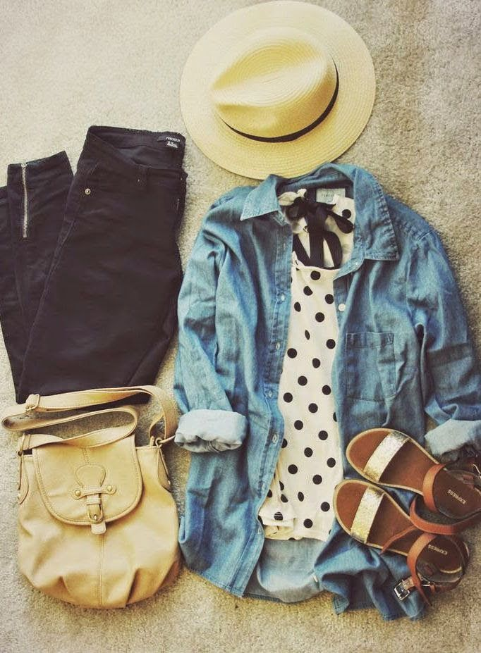 I Really Want The Polka Dot Shirt ! I Can Never Find Polka Dots Anywhere  Anymore ! 3 Black And White Outfits To Wear To An Outdoor Concert Teen  Fashion Cute ...