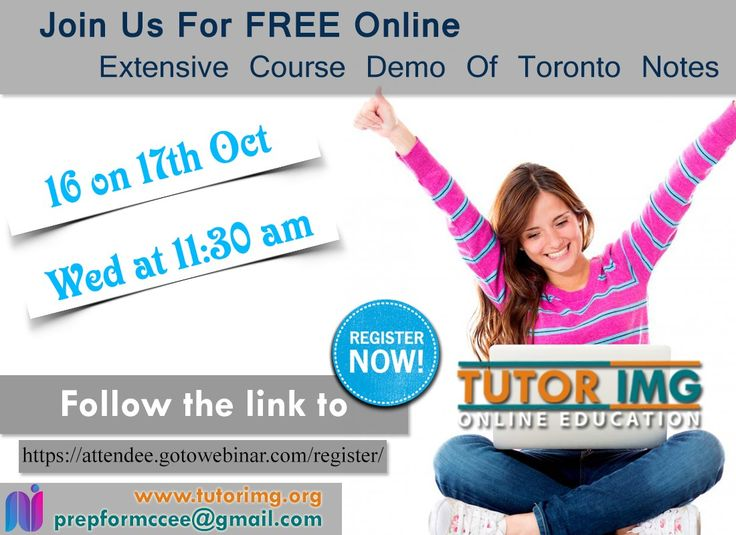 Join us for FREE Online Extensive course demo of Toronto notes 16 on 17th Oct , Wed at 11:30 am  Follow the link to register https://attendee.gotowebinar.com/regist…/2667169296308866305