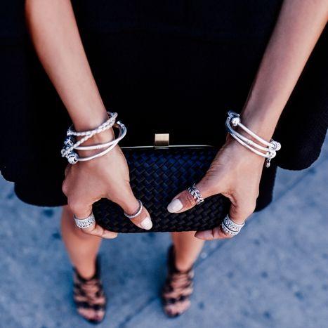 #PANDORAloves blogger Annabelle Fleur's look at the PANDORA Jewelry and Nanette Lepore show at New York Fashion Week. #PANDORAatNYFW