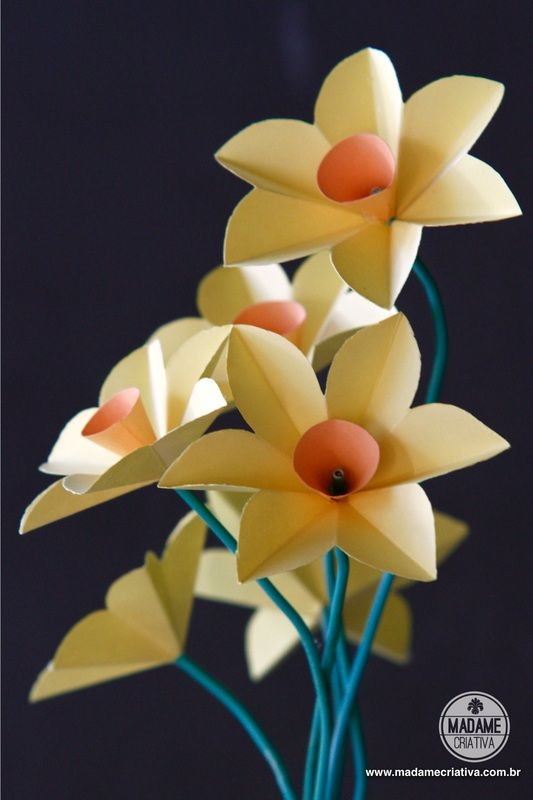How do Daffodils Paper-Step by step with pictures - How to make paper flowers…