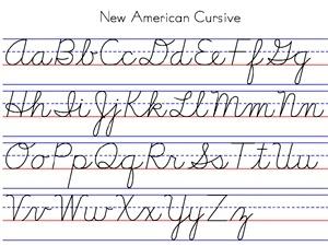 Cursive Alphabet Cursive Chart Learn Cursive Write Cursive