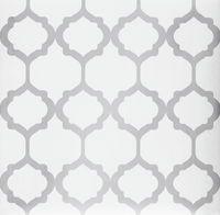 Tapet Area Orient 10m x 0,53 m Vit Non-woven - Vita tapeter - Rusta
