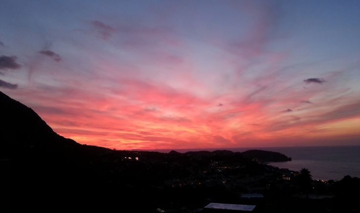 September sunset in Ischia (Italy) from the terrace of the Hotel Ape Regina...