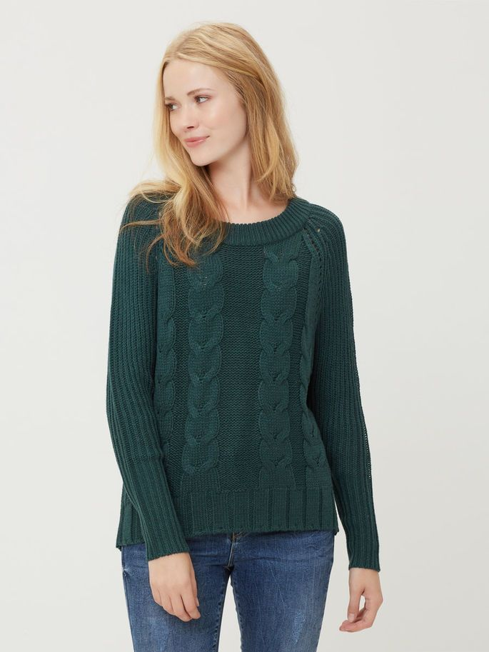 Green knit for awesome day in school