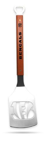 Sportula Products Cincinnati Bengals Stainless Steel Grilling Spatula by SPORTULA PRODUCTS. $24.99. Hard maple handles with durable brass rivets. Heavy-duty Stainless Steel. Convenient bottle opener. Custom heat-stampled lettering. Unique laser-cut design. The Sportula is a heavy duty stainless steel grilling spatula that is perfectly designed for the Ultimate Tailgater.