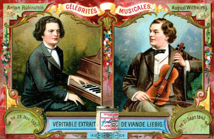 lord of the rings free online  S596  Musical Celebrities  Liebig  German issue  1899  _Anton Rubinstein and August Wilhelmj
