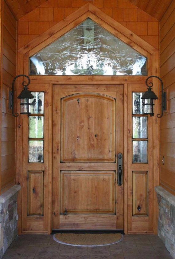 Knotty Alder Entry Door W 3 Lite Side Lites Ex 1337 Ksr Door And Mill Comany Rustic Front Door Rustic Doors Wood Doors Interior