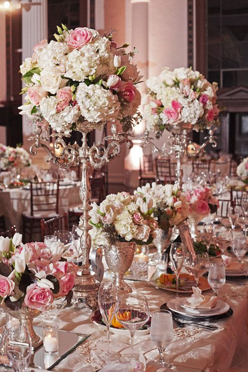 Such beautiful flower arrangements at this L.A. Armenian wedding, photos by Duke Images | junebugweddings.com