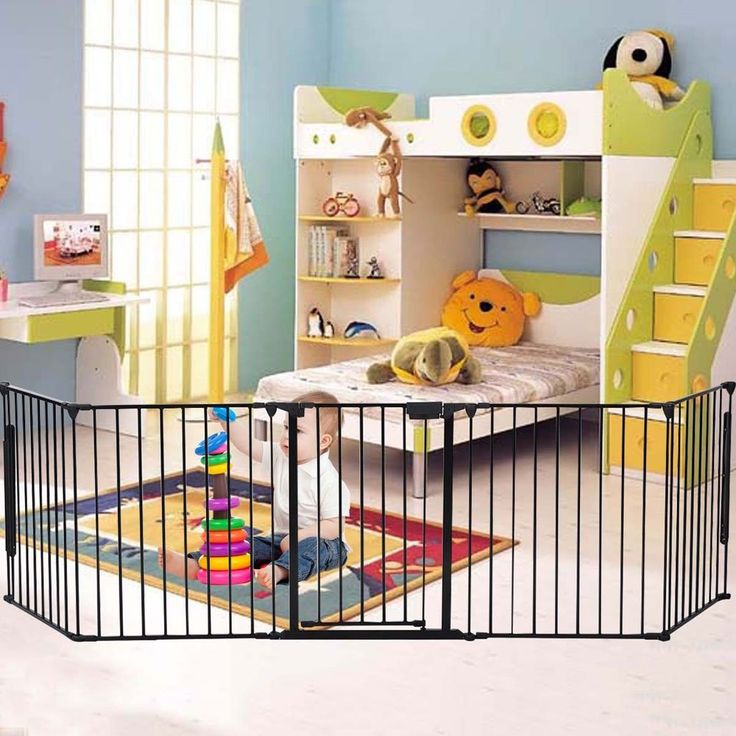 "Z ZTDM 25"" x 30"" Baby Safety Fence Pet Dog Cat Hearth Gate BBQ Fire Gate Fireplace Fence Guard. For households with little ones and pets. Heavy-duty Tubular Steel, Safe and Sturdy. Easy to Assemble and Adjust, All Joints Easily Rotate and Lock for Secure Attachment. Flexible Design Enables Multiple Uses, Capable as Enclosed Gate, Barricade or Fireplace Screen. Individual Panels: 25"" x30""(L x W); Overall Gate Width: 120"" ; verall Gate Height: 30"" ; Door Dimensions: 17"" x 29""(L x W)."