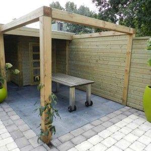 15 beste idee n over het bouwen van een terras op pinterest zwembad dek meubilair zwembad - Terras met houten pergolas ...