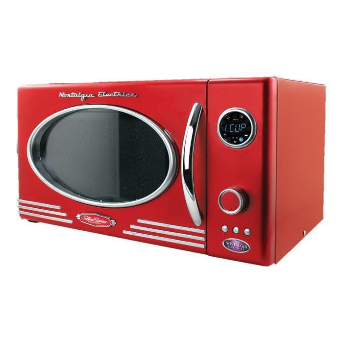 This design amuses me, as I don't know whether microwaves were even a common household appliance back when this kind of retro-styling was prevalent (1950s)... this is design styling at its most extreme! But it's interesting!