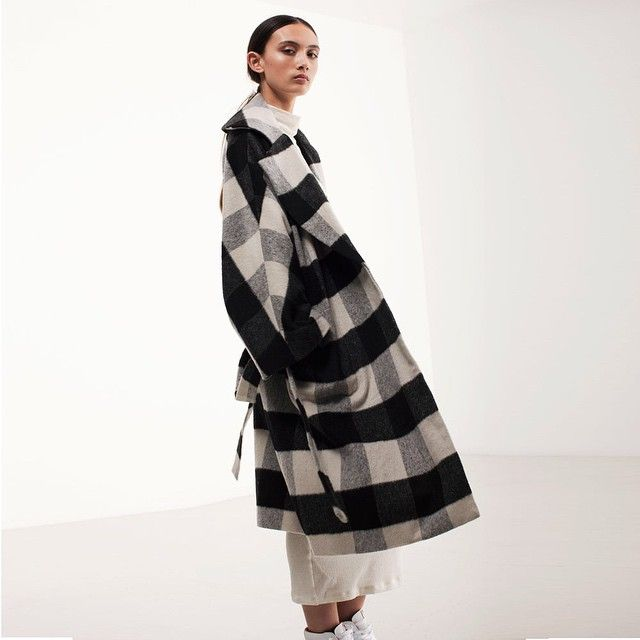 Natarsha wears #MonDieu Utopia Coat Black & White Check #LonelyHearts available from lonelylabel.com, our Ponsonby Rd store and our lovely stockists ♡