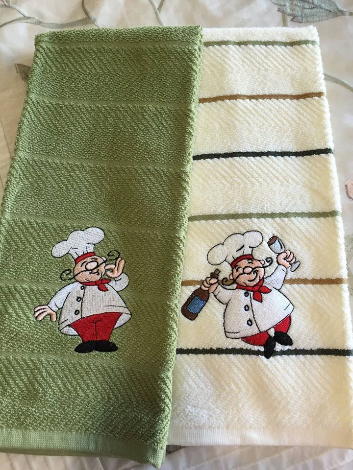 Bon Appetit Chefs Filled embroidery design set available for instant download at designsbyjuju.com