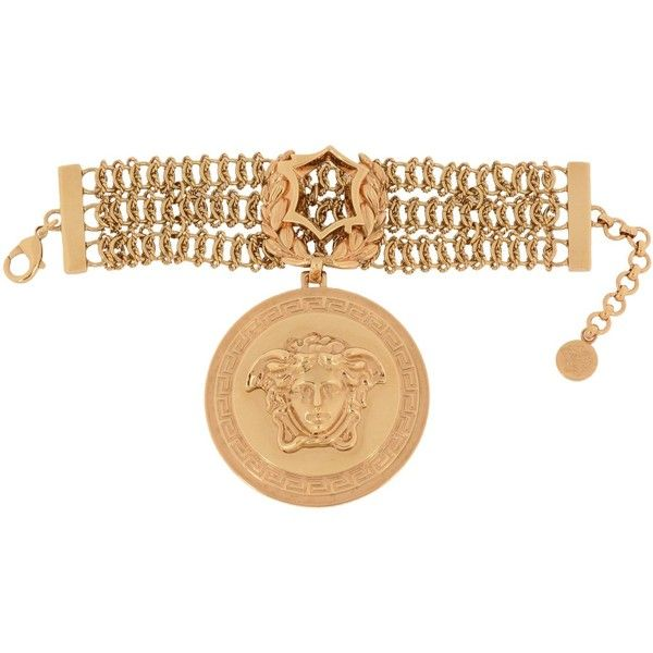 Versace Bracelet ($430) ❤ liked on Polyvore featuring jewelry, bracelets, gold, versace jewelry, versace and versace jewellery