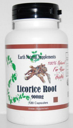 Licorice Root * 120 Capsules Licorice Root 900 Mg Glycyrrhizin - Supports Adrenal Cortex Function and Its Production of Steroidal Hormones