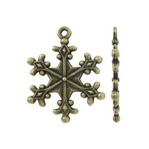 Snowflakes Antique Bronze Charm Christmas Pendant fitting