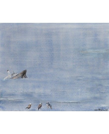 LEV MESHBERG (RUSSIAN 1933-2007) Elba Island. Three Seagulls, 2002 watercolor on paper 67 x 83 cm