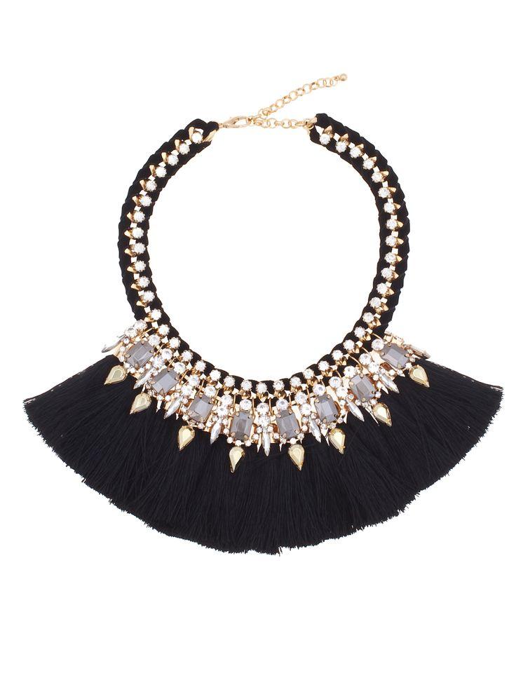Tassel HEAVEN | Tassel Glam Necklace | Women's Plus Size Jewelry | ELOQUII.com