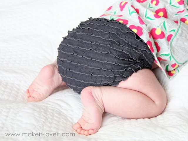 Diaper Covers with Ruffle Fabric   Make It and Love It