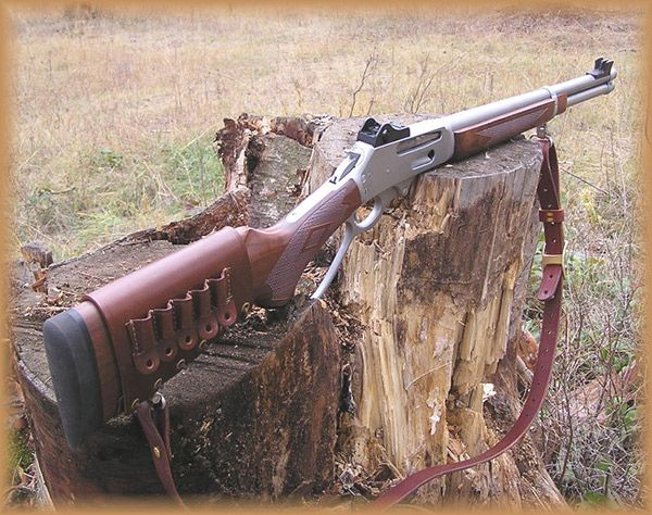 The Marlin 336 Lever Action Rifles: I love the stainless and wood look, the peep sight, and leather.