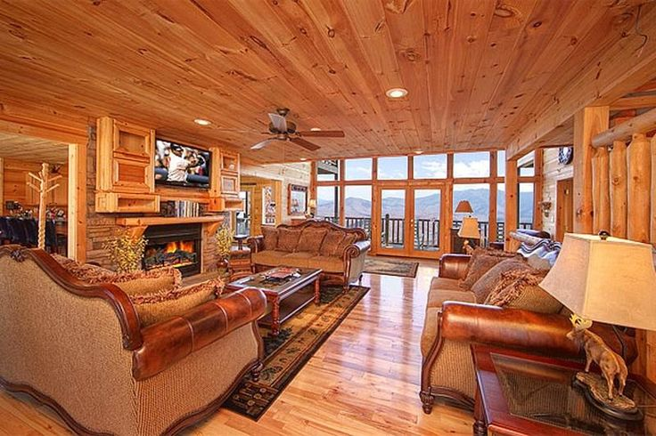 11 best large group vacationing images on pinterest log for Large group cabins in gatlinburg tn