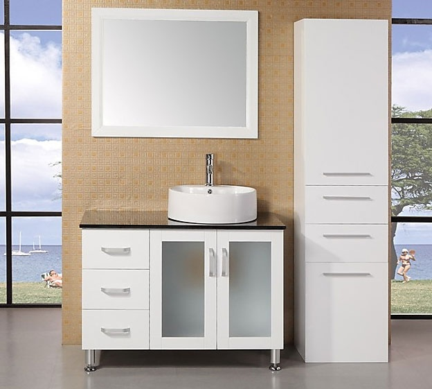 white bathroom vanities sink cabinets under cabinet gloss