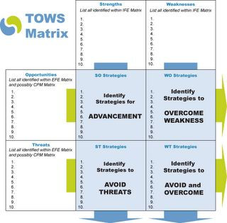 tows matrix of brewing industry A profile of the strengths, weaknesses, opportunities and threats is generated by means of a pest analysis an industry analysis can be performed using a bcg matrix sabmiller is evolving from an operating company, focussing predominantly on brewing, to a brand-led company.