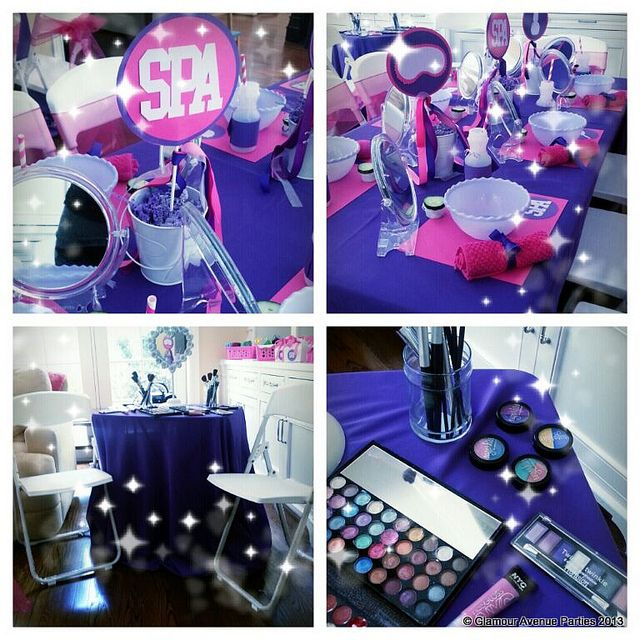 Color Scheme - Spa Parties for Girls by Glamour Avenue Parties @GlamAveParties | Flickr - Photo Sharing!