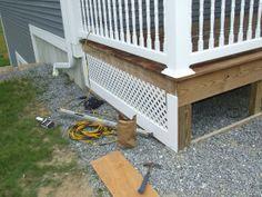 Porch Skirt - How To Build A Lattice Porch Skirt