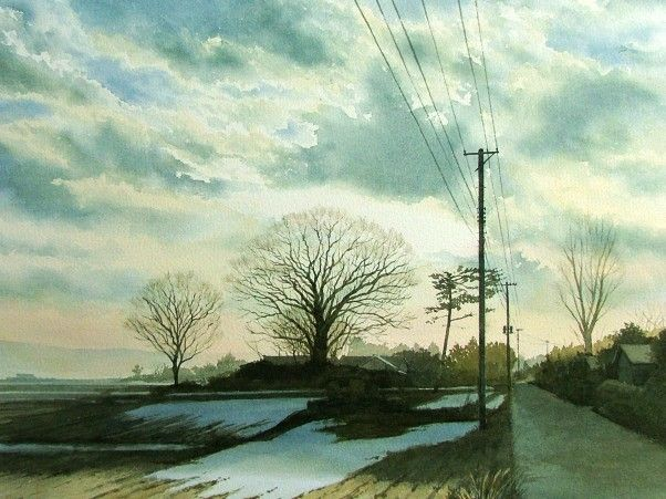 Winter watercolor picture album Winter - AbeToshiyuki watercolor gallery