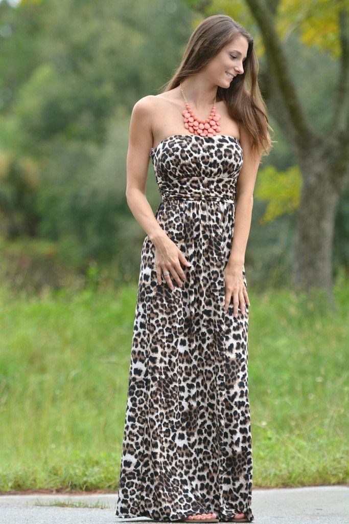 WILD ABOUT A MAXI Leopard Animal Print Long Dress - Shop Simply Me –boutique – www.SHOPSIMPLYME.com - #ishopsimplyme – Naples, FL