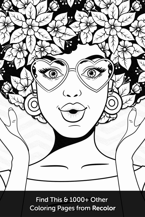 548 best color faces images on Pinterest | Coloring book, Coloring ...