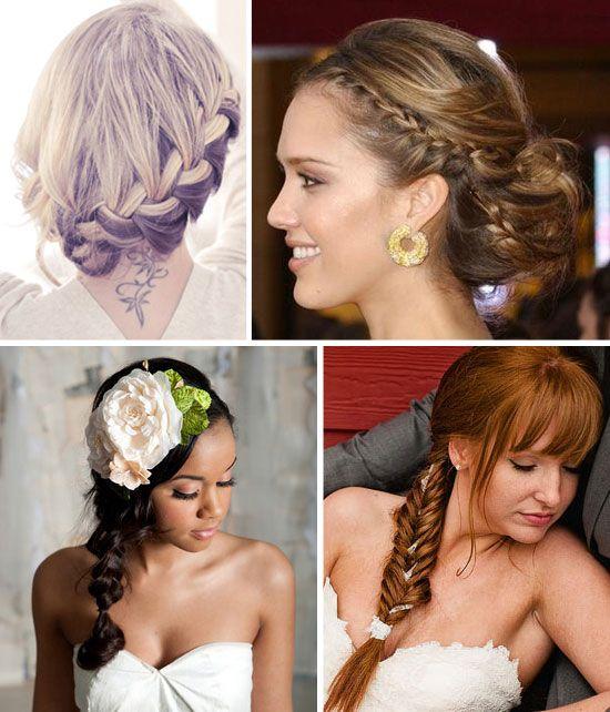 Ideas para peinados de novia: Trenzas (con tutoriales)