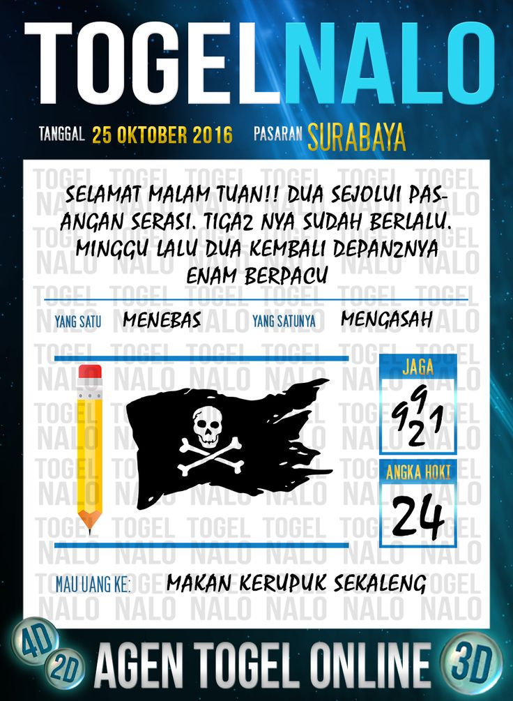 Tafsir Syair Togel Wap Online Live Draw 4D TogelNalo Surabaya 25 Oktober 2016