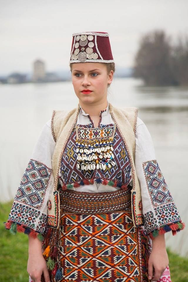 Serbian folk costume from Imljani , Western Bosnia