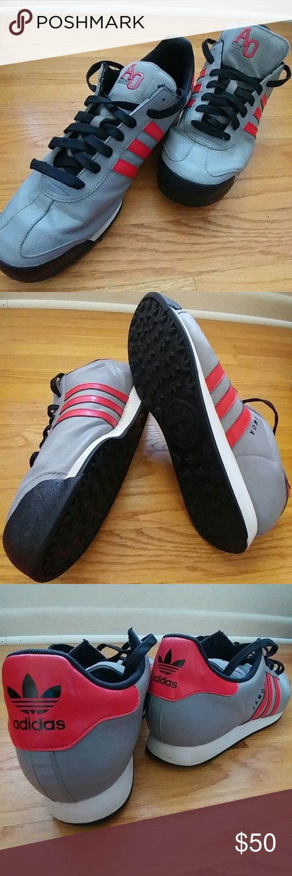 MEN'S ADIDAS ORIGINALS SAMOA SNEAKERS SIZE 13 Men's ADIDAS ORIGINALS (AO) SAMOA Sneakers Size 13.  Grey with Red.  EUC.  Clean.  Well cared for.  **Nice**!! Adidas Shoes Sneakers