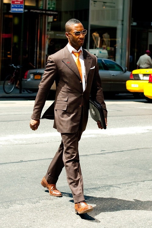 Down with Brown: Orange Ties, Guys Style, Men'S Anything, Men Anything Men, Street Style, Men Brown, Brown Suits Orange Ti, Men Thread, Madison Void