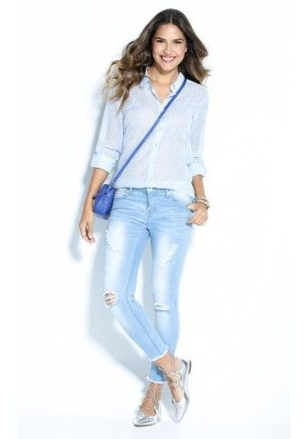 Džínsy v obnosenom vzhľade #modino_sk #modino_style #jeans #style #fashion #outfit #denim