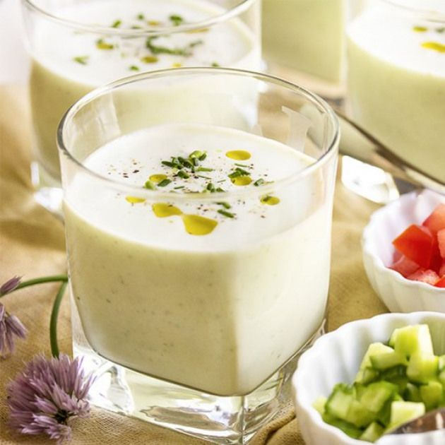 Cold Cucumber Buttermilk Soup Cucumber Blended With Buttermilk Makes A Refreshing Cold Soup On A Hot Summer Day It Takes Cold Soup Recipes Cold Soup Recipes