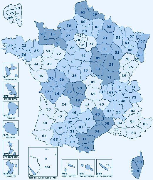 France-carte-des-départements-de-France-Outre-mer-Corse-région-parisienne-France-Europe