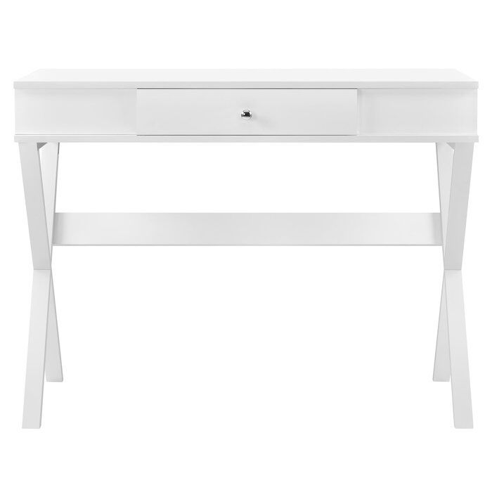 Ericka Writing Desk White Writing Desk Writing Desk With Drawers Campaign Desk