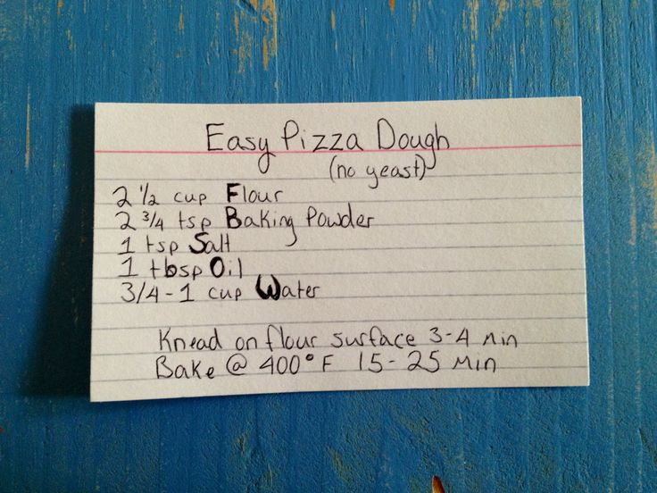 Easy (no yeast) Pizza dough I used it to make pizza rolls. My family loved it!