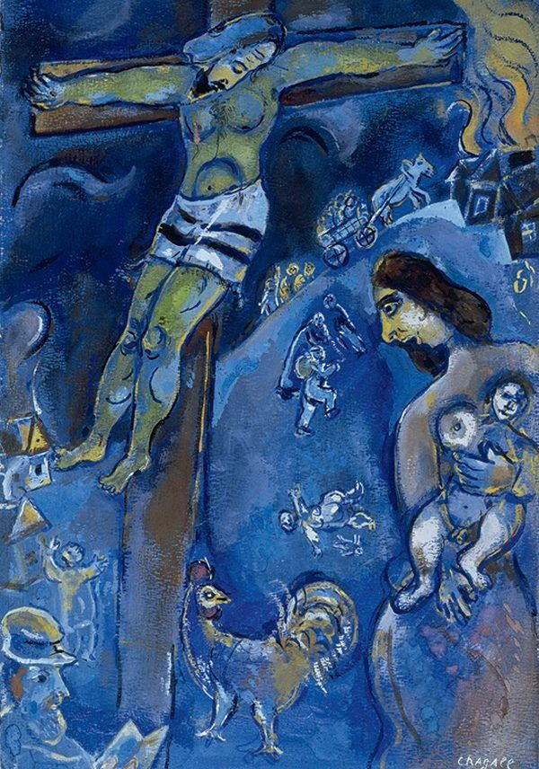 Marc Chagall, Persecution, 1941, pastel, gouache and watercolor on paper.