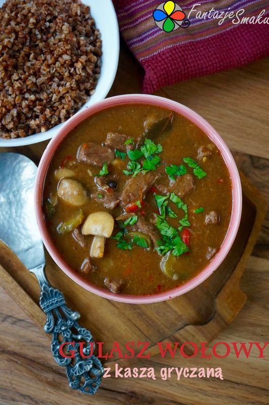 Gulasz wołowy z kaszą gryczaną http://fantazjesmaku.weebly.com/blog-kulinarny/gulasz-wolowy-z-kasza-gryczana