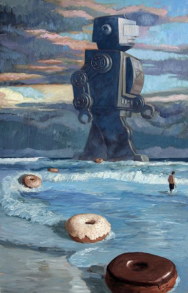 Distracted by the giant robots, we never noticed the Giant Donut apocalypse until it was too late to stop it...